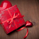 Valentines gift with heart